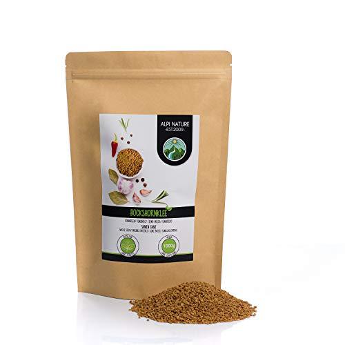 Semi di fieno greco interi (1kg), 100% naturali, senza additivi, vegani, semi di fieno greco
