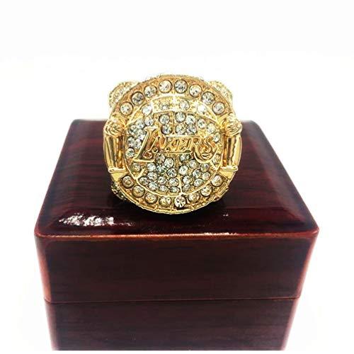 Regalo Colección Los Angeles Lakers anillos de campeones de la NBA, Campeones 2010 Final Mundial de la reproducción del anillo de baloncesto Los aficionados del recuerdo de los hombres con la caja