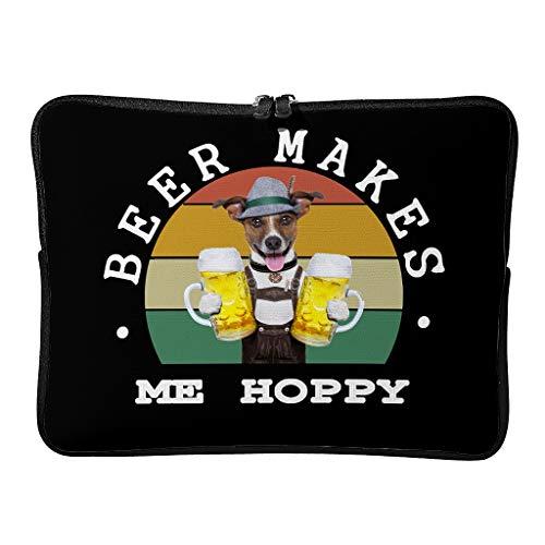 Regular Beer Makes Me Hoppy - Bolsas de ordenador portátil, reutilizables, personalizadas, para personas que viajan, blanco (Blanco) - BTJC88-DNB-8