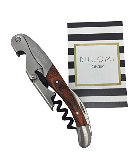 Ducomi® Sommelier - Korkenzieher Flaschenöffner für Wein aus Edelstahl (Garantie A Leben), Korkenzieher Kellnermesser Position Benutzerfreundliche Profis für Wein und Bier (Wood)