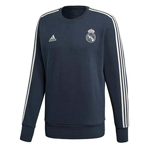 adidas Herren Real Madrid Sweat Top Sweatshirt, tech Onix/Core White, S
