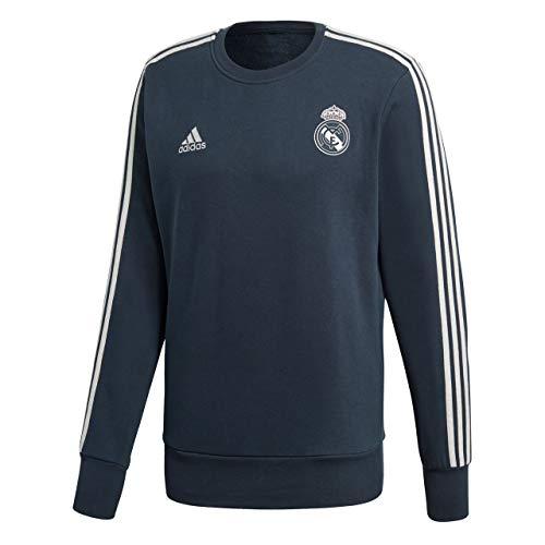 adidas, Felpa da Uomo Real Madrid, Uomo, Maglia di Tuta, CW8691, Tech Onix/Core White, XS
