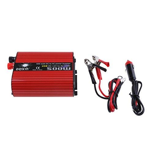 #N/a Inversor de Coche de 500 W Pure Sinus DC12V a AC220V 3.1A Puerto USB Dual