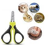 Tagliaunghie per Animali Domestici, Forbici Professionali per Artigli, Forbici per taglierina per Cani per Gatti, Cuccioli di Coniglio, Piccoli Animali