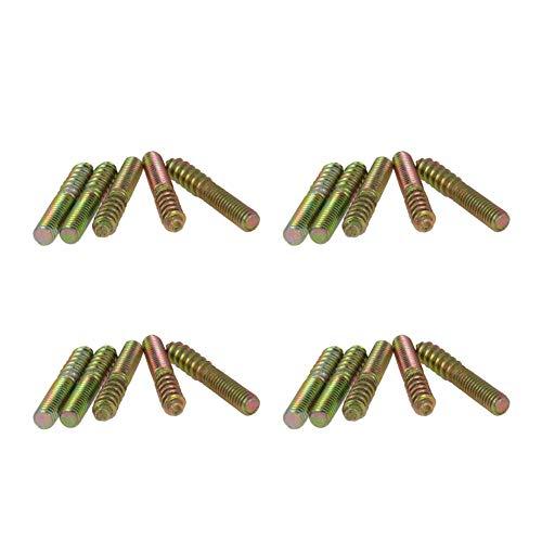 MroMax ダウエルネジ 2つの木製の家具のコネクター間の接合箇所を作るための両頭ねじ 良質の合せ釘ねじ 両頭木の接合に使用する両頭ねじ、高品質ダボねじ ネジ ダブルエンドスレッドスタッド 50ピース