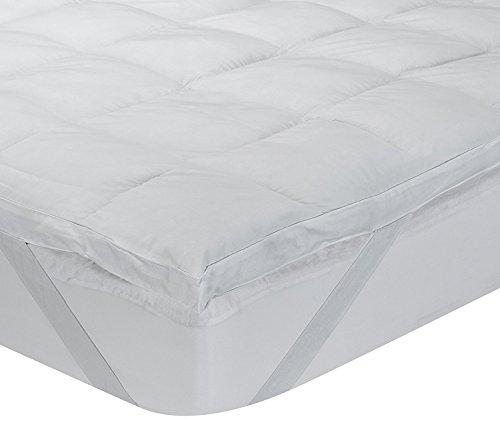 Classic Blanc - Surmatelas en fibre hypoallergénique Aloe Vera, confort médium, épaisseur 6,5cm. 180x200 cm-Lit 180