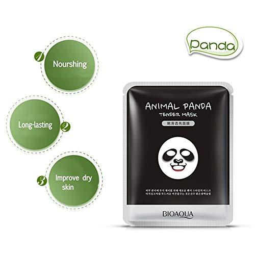 1 UNID Máscara Facial Animal Máscara Mask Máscara Facial de Barro Removedor de Espinillas Rrasgón Estilo Limpieza Profunda Purificante Pelar Fuera de la Cabeza (Panda)