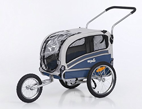 Sepnine Leonpets Dog cart of 2 in1 Medium pet Dog Bike Trailer Bicycle Carrier and Jogger 20303 Yellow