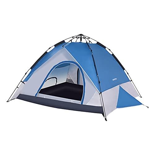 Tienda de campaña para 4 personas, doble capa, resistente al viento, tienda de campaña para la playa, tienda de campaña con bolsa de transporte, para deportes al aire libre, picnic, viajes, playa