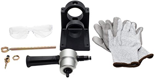 Lowest Prices! Sheet Metal Nibbler Full Set   Bite Cutter Drill Attachment Tool, Round & Straight Cu...