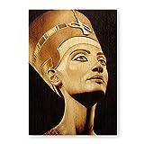 Shmjql Egipto Reina Nefertiti Retrato Vintage Poster Lienzo Impresiones Artísticas Cuadro De Arte De Pared Pintura para Sala De Estar Decoración De La Pared del Hogar-50X70Cmx1 Sin Marco