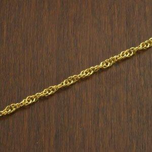 純金 24金 チェーン 幅1.3mm 50cm 0.24 スクリューチェーン 24金ネックレスチェーン 純金ネックレス k24 チェーンネックレス 24K ネックレスチェーン