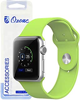 Ozone Silicone Strap For Apple Watch 44mm Series 4 / 42mm Series 3/2 / 1 Adjustable Sports Band - Green