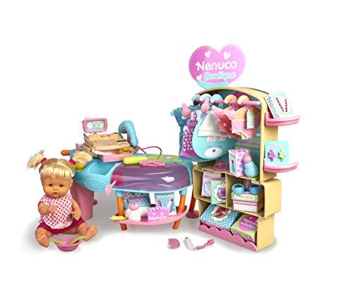 Nenuco- Boutique, muñeca bebé con Tienda de Ropa de Juguet