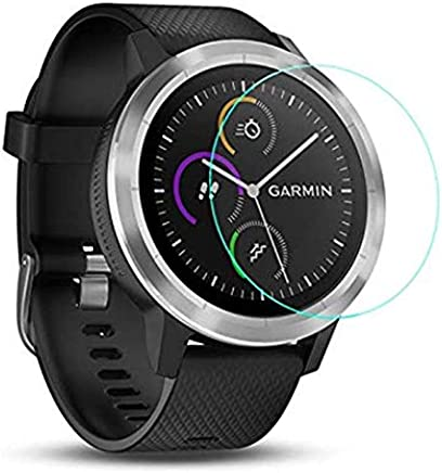 Screen Protector for Garmin Vivoactive 3, 2 Pack Tempered Glass Screen Protector for Garmin Vivoactive 3 Ultra Clear Scratch Resistant Anti-Bubble