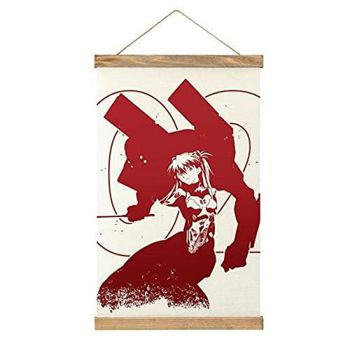 HUAIAN Evangelion Anime Eva 02-anime Poster Anime Poster Poster Cartel de Anime Pintura Decorativa Lienzo Arte de Pared Sala Carteles Dormitorio Pintura Talla Única
