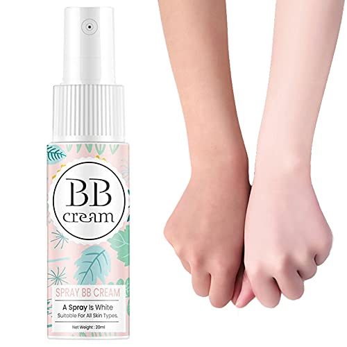 RALMALL 1 STÜCK 20 ml BB Cream Spray Concealer Whitening BB Cream Moisturizing Brightening Wasserdicht Schweißfestes Concealer Spray zum Hautpflege Auch Hautton Frauen Mädchen