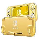 TNP - Custodia protettiva per Nintendo Switch Lite 2019, in policarbonato rigido, comoda e leggera, antiscivolo, resistente agli urti, antigraffio, 2 pezzi, trasparente