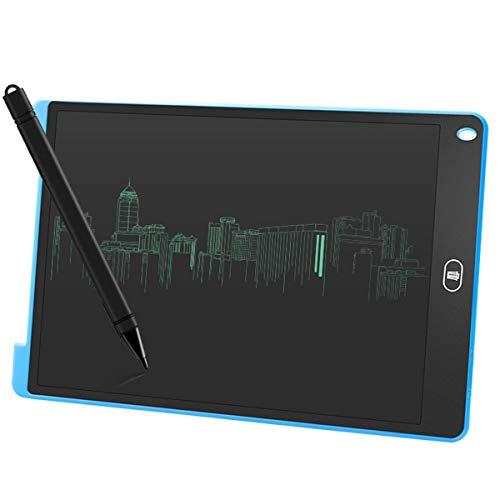 Jinxuny LCD-bureaublad 12 inch (ABS-beeldscherm, digitaal, ultradun, draagbaar schrijf- en tekenplank, papierloze handschrift, lichtgewicht tablet voor kinderen, thuis, schoolkantoor (zwart) 12 Zoll blauw