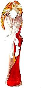 YourMurano, Figuras humanas de cristal de Murano, artículo de diseño del hogar, marca de origen, Cosette y Marius