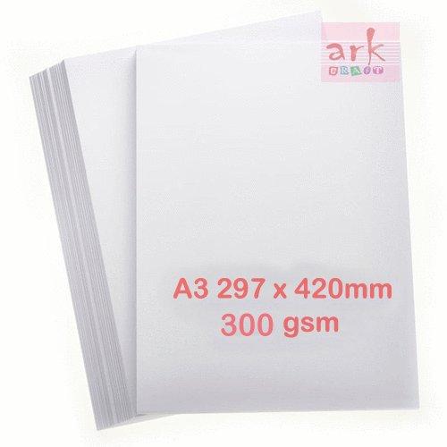 Lot de 100 feuilles de papier A3 blanc épais 300g/m² 297x 420mm