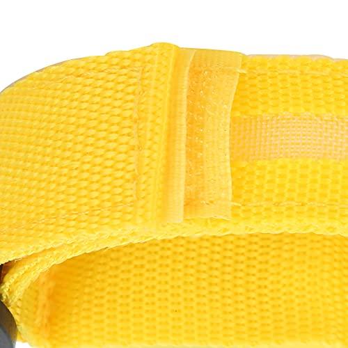Liujaos Brazalete LED, Ligero, Ajustable, con Hebilla, Pulseras Deportivas para Actividades al Aire Libre, Ciclismo para Corredores, Corredores para Correr, Acampar, Deportes al Aire Libre(Yellow)