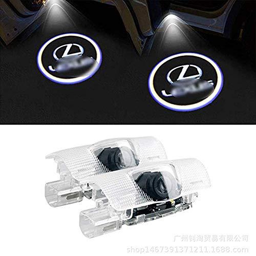 4 Stück LED Autotür Türbeleuchtung Beleuchtung KFZ Türen Einstiegsbeleuchtung Projektor Laser Door Willkommen Logo Projektion Lichter Kein Bohren 3D für Lexus