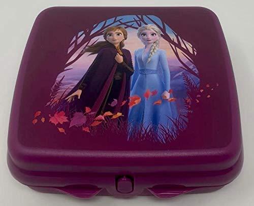 Tupper TUPPERWARE Disney Eisprinzessin ELSA Anna Frozen to Go Twin lila Mädchen Schule Brotdose Box Behälter Kindi Twin Kind Kindergarten Schule A126 Sandwichbox