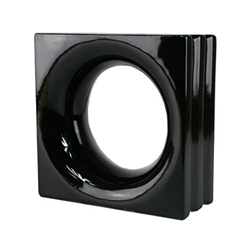 Fuchs Design 1 Stück Style'n Art Deko Idee Loop Schwarz 19x19x8 cm