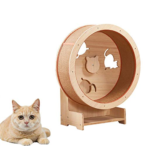 HYDDG Katzenkletterrad Großer Palast Katzenpavillon Katzenklettergerüst Hängematte Katzenwohnung Katzenturm Rutschen Unterstützung Schwingen Großer Zwinger Horizontale Position,80cm