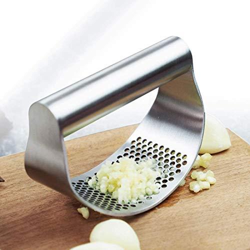 Trituradora de ajos de acero inoxidable para cocina, prensa de ajos, rodillo multifunción para utensilios de cocina en el hogar