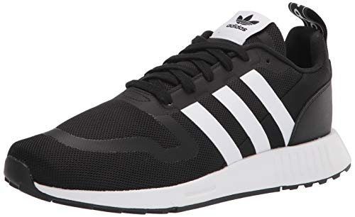 adidas Originals mens Smooth Runner Sneaker, Core Black/White/Core Black, 12 US