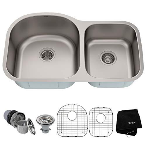 Kraus KBU27 Undermount Double Bowl 60/40 Sink