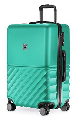 HAUPTSTADTKOFFER - Boxi - Hartschalen-Koffer Koffer Trolley Rollkoffer Reisekoffer TSA, 4 Rollen, 65 cm, 70 Liter, Türkis