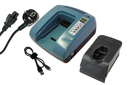 原文 PowerSmart Cargador para Bosch GSB 24 VE-2, GSB 9.6 VES, GSB 9.6 VES-2, GSR 12 VE-2, GSR 12-1, GSR 12-2, GSR 12 V, GSR 12 VES-2, GSR 12 VES-3, GSR 12 VET, GSR 12 VPE-2, GSR 12 VSH-2, GSR 14.4 V