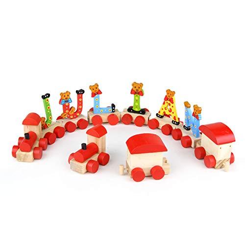 Brink Holzspielzeug Buchstaben auf Rädern Dekorationsartikel Bären Geschenk Buchstaben Holz (Lok)