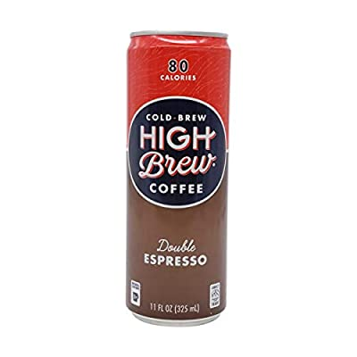 High Brew Coffee, Coffee Double Espresso, 11 Fl Oz