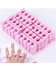 Soapow Separadores de dedos de esponja de espuma suave, 50 unidades