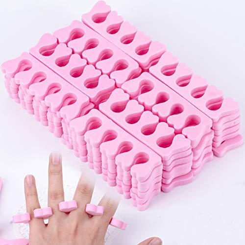 50 Pcs Separadores de Dedos y Separadores de Dedos, Esponja Suave Separador de Dedos del Dedo del...