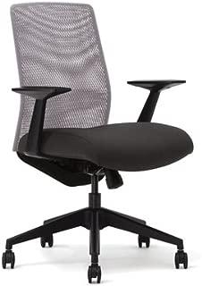 Highmark 7107M-R2-A40 Mesh Back Body Balance Chair Ebony Orange Mesh