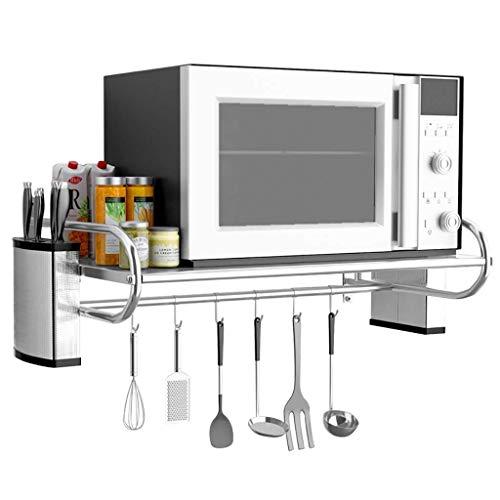 XHNXHN Mensola da Cucina in Acciaio Inossidabile Mensola per Forno a microonde Mensola per Forno Lunghezza Staffa 50 cm / 60 cm. (Dimensioni: 60 * 35,5 * 19 cm)