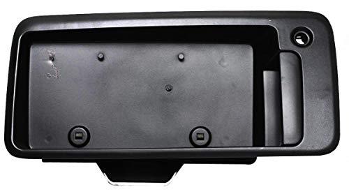 Garage-Pro Rear Exterior Door Handle Compatible with CHEVROLET EXPRESS/SAVANA VAN 2003-2009 Back Door Textured Black with License Bracket