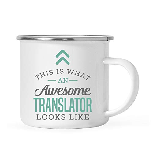 Andaz Press 11oz. Stainless Steel Campfire Coffee Mug Gift, This is What an Awesome Translator Looks Like, 1-Pack, Birthday Gift Ideas Coworker Him Her, Includes Gift Box