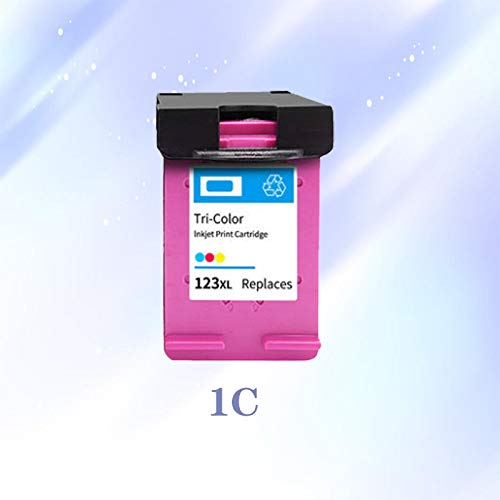 WIYP Cartucho de Tinta 123XL de Replacment for HP 123 hp123 XL Nueva versión for Deskjet 1110 2130 2132 2133 3630 3632 5220 5230 5010 5020 (Color : 1C)