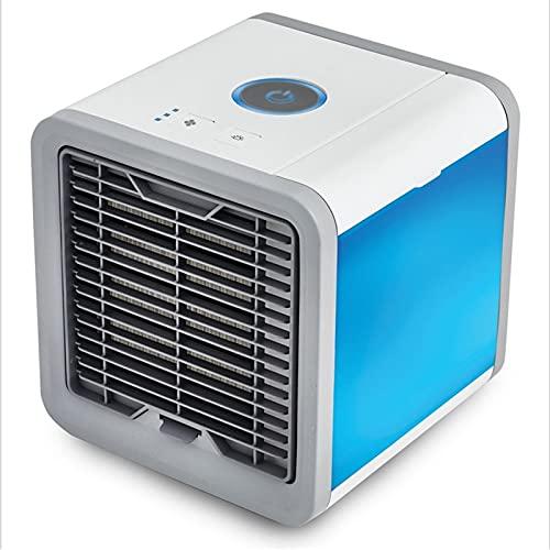 CGGA Mini acondicionador de Aire Aire Cooler Ventilador 7 Colores Luz USB Aire Acondicionado portátil 3 Gear Espacio Personal Air Enfriamiento Fan Dropship (Color : White)