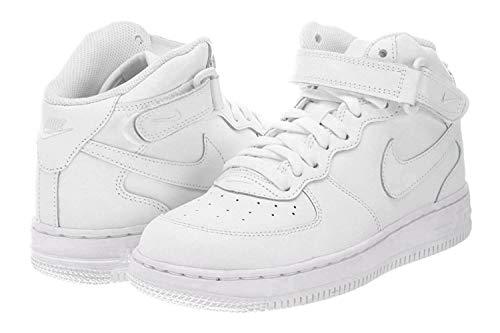 Nike Jungen Force 1 Mid (ps) Basketballschuhe, Bianco, 33 1/2 EU