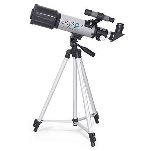 SkySpy Telescope - Beginner 70mm Refractor Telescope with Finder Scope & Tripod - Portable Glass with 3 Magnification Eyepieces - Starter Astronomy Kit for Kids & Adults - Educational Science Gear