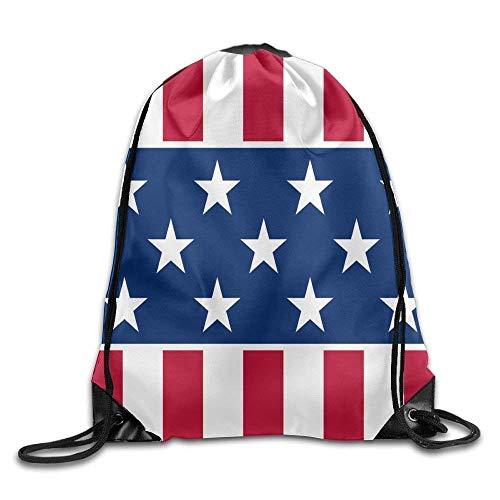 Etryrt Prämie Turnbeutel/Sportbeutel, Flag of Illinois Cool Gym Drawstring Bags Travel Backpack Tote School Rucksack