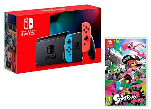 Nintendo Switch console Rouge Néon/Bleu Néon 32Go + Splatoon 2