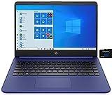 2021 HP 14 inch Laptop, AMD 3020e Processor, 4 GB RAM, 64 GB eMMC Storage, WiFi 5, Webcam, HDMI, Windows 10 S with Office 365 for 1 Year + Fairywren Card (Blue)
